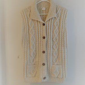 Vintage Hand knit 100% Wool Vest